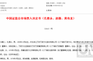 证监会万家文化案处罚出炉:赵薇夫妇禁入证券市场5年