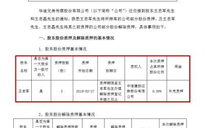 质押3股融资16元 华谊兄弟王忠军盒饭钱都没了?