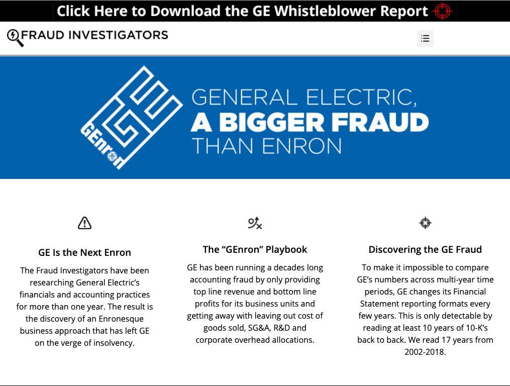 通用电气被控财务欺诈 会计专家:丑闻规模比安然还大